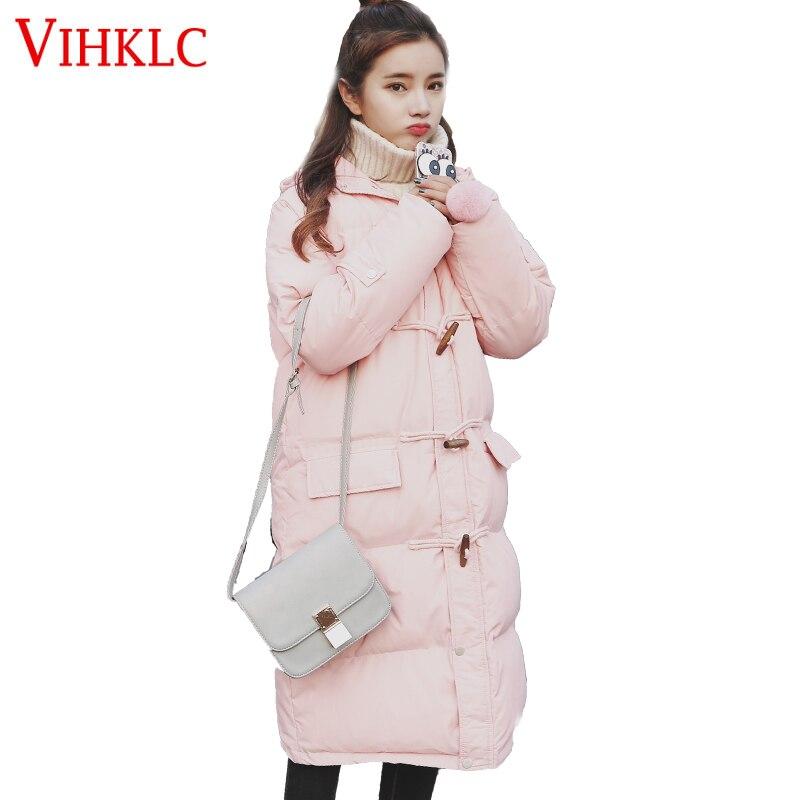 D'hiver Dames L135 Épaisse Black Manteaux Ouatée pink Long Femmes Coréenne Chaud Veste 2017 Coton Parka Version yellow Lâche Manteau wHqBvxX