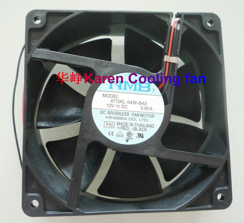 NMB New Original 12cm 120*120*38MM 4715KL-04W-B40 12038 12v 0.9a 2wire cooling fan brand delta afb1212she 12038 12cm 1 6a 12v 4wire pwm cooling fan 120 120 38mm 151 85cfm 3700rpm 53db a