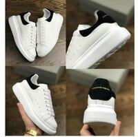 Plus Size 34 44 Genuine Leather Women's Platform Dad Sneakers 2019 Fashion Women Flat Walking Shoes Woman Chunky Trainers