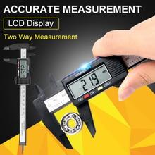 Cheap price 6inch /150mm LCD Digital Electronic Carbon Fiber Vernier Caliper Micrometer Measurement Tool