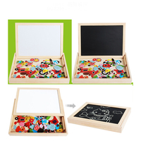Wooden Magnetic Jigsaw Puzzles Games Baby Learning Education Puzzle Drawing Board Toys Hobbies Toys For Children