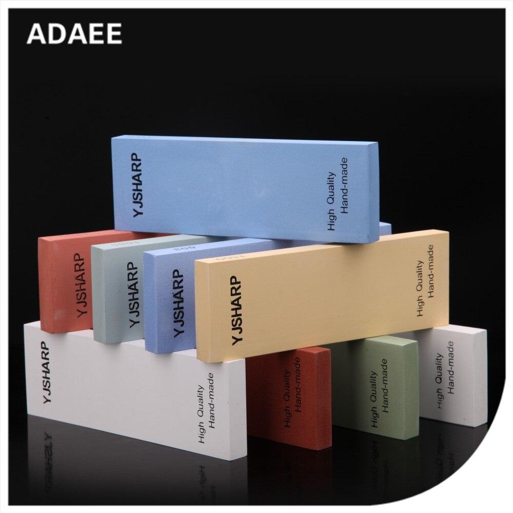 """Adaee aiguiseur de couteaux professionnel pierre de meulage simple face adapté pour l'extérieur divers outils avec taille 7.1 """"x 2.4"""" x 0.6"""""""