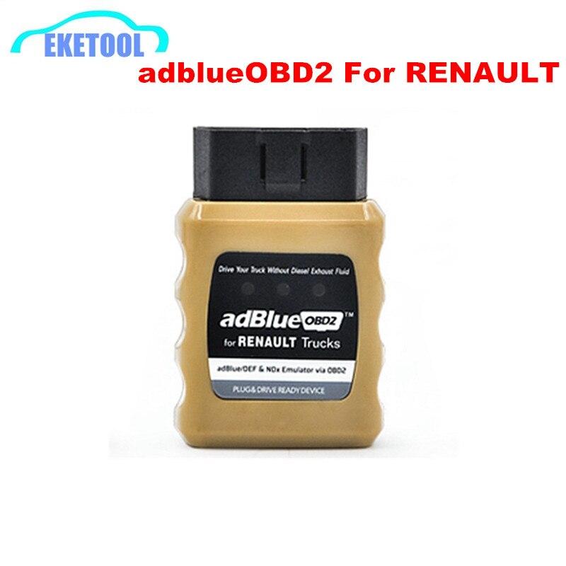 Prix pour Adblueobd2 Scanner pour Renault AdBlue Emulator NOX / DEF par OBD OBD2 Interface de diagnostic pour Renault camion AdBlue OBD2