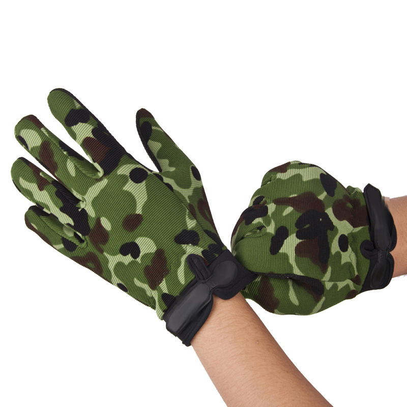 Unisex Bike Cycling Gloves Camouflage Tactical Airsoft Motorcycle Riding Hunting Full Finger Bicycle Gloves for BMX MTB