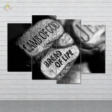 Wall Art HD Prints Canvas Painting Modular Picture And Vintag Black Stones Jesus Proverbs Poster Home Decor