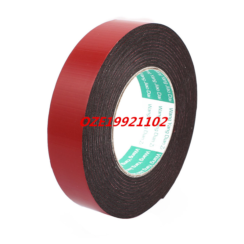 30mm x 2mm Double Sided Self Adhesive Shockproof Sponge Foam Tape 5M Length 2pcs 2 5x 1cm single sided self adhesive shockproof sponge foam tape 2m length