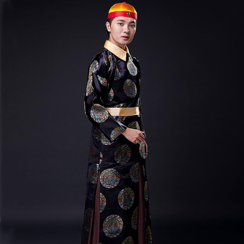 Chinese Traditional Clothes tang suit sets ancient Qing Dynasty Emperor Prince TV Play Actor performance wear Cosplay Costume new arrival film performance wear blue embroidered dragon brocade the qing dynasty prince clothes chinese ancient costume male