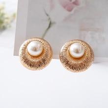 COWNINE Sweet love pearl ear clip electroplating golden classic fashionable women wedding jewelry clip earrings