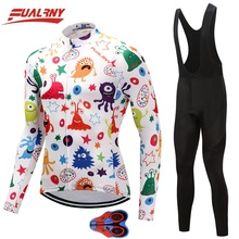 2019 Team FUALRNY Long sleeve Ropa Ciclismo Cycling Jersey sets 9D/Autumn Mountian Bicycle Clothing/MTB Bike Clothes Man Cartoon цены