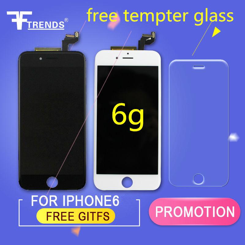Prix pour Fftrends 10 pcs/lot essai de 100% de haute qualité aaa lcd pour apple iphone 6 lcd écran remplacement assemblée noir blanc bateau libre dhl