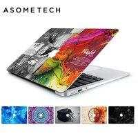 Cá miễn phí Tường bằng đá cẩm thạch máy tính xách tay Vinyl nhãn dán Decal cho Apple macbook Retine Air Pro 11 12 13 15 inch Máy Tính Xách Tay Não Sticker cho MAC
