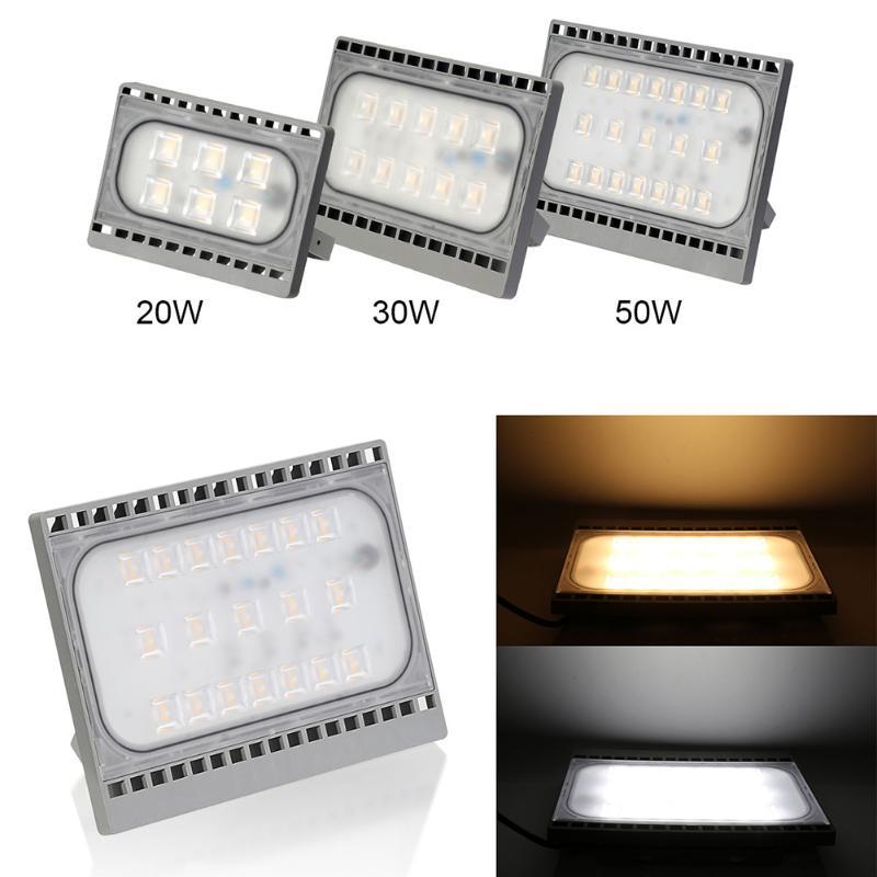 LED Outdoor Spotlight IP65 Waterproof LED Floodlight 50W 30W 20W Warm White Cold White LED Floodlight Outdoor Lighting