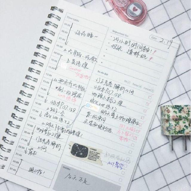 caderno espiral timetable agenda 2017 diary planner to do list - school agenda