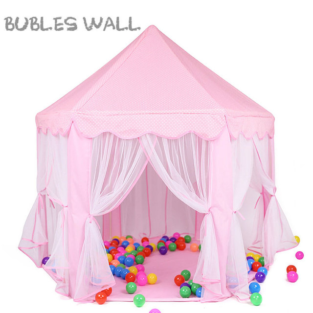 Bubles Wall Play Tent Portable Foldable Princess Folding Tent Children Castle Play House Kids Gifts Outdoor
