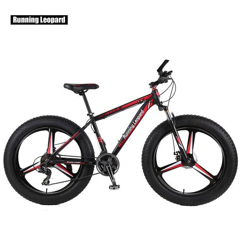 Corsa e Jogging Leopardo Biciclette New fat Bike 26*4.0 Pollici Mountain Bike 7/24/27 velocità ammortizzatore neve Bike Russia trasporto libero