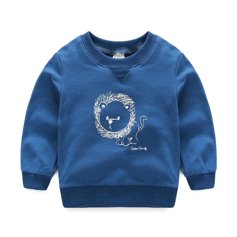 2017 Autumn winter children T-shirt Solid color Boys girls pure cotton sweatshirts Baby Children clothing kids Sweatshirts