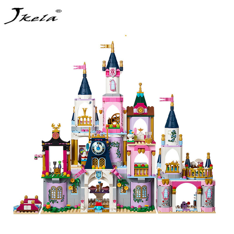 [Jkela] Dream Castle Model Building Blocks 655 PCS Bricks Compatible With Legoing 41154 Friends For Girl Birthday Gifts Toys shirly new rest stop dream house building blocks compatible with lego bricks girl s educational toys birthday christmas gifts