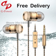New metal headphone ear phones MP3 computer subwoofer Universal VR headset with microphone ear music phone