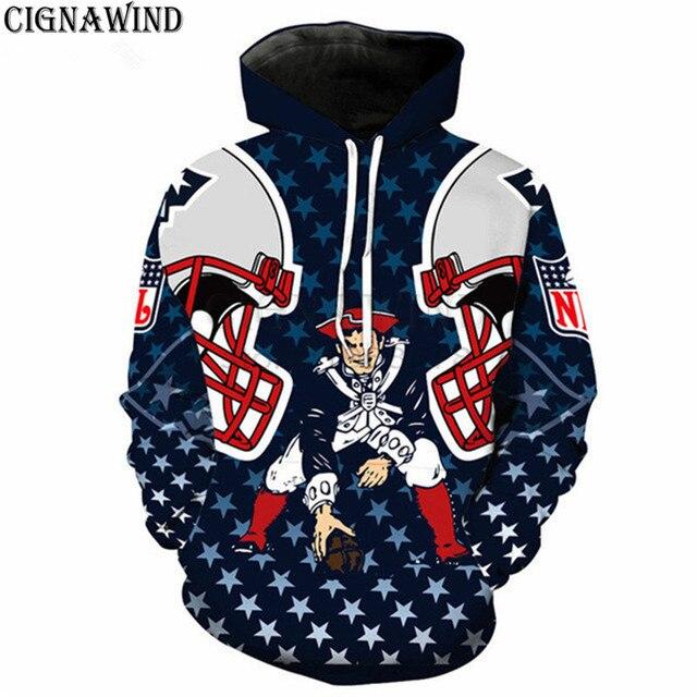 f72e29b12cf New hoodie Men women 3D Print England PATRIOTS ATLANTA BRONCOS Hoodie  Sweatshirt Long Sleeve Harajuku style streetwear tops
