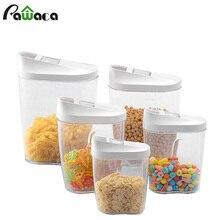 5 шт. коробка для хранения еды прозрачный контейнер набор с Pour кухонные крышки еда герметичные закуски сухофрукты зерна бак для хранения зерновых коробок