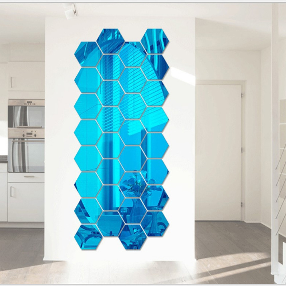 Permalink to 12Pcs/set 3D Hexagon Acrylic Mirror Wall Stickers DIY Art Wall Decor Mirror Removable Stickers Home Decor Living Room Mirrored
