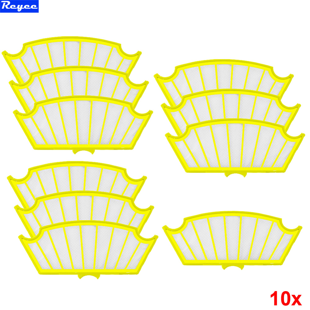 10Pcs/lot Packs Yellow Filters Filter For Roomba for iRobot Roomba 500 Series Vacuum 510 520 530 550 560 570 Brand New 1 piece robot hepa filter replacement for irobot roomba 500 series 520 530 540 550 560 vacuum cleaner parts