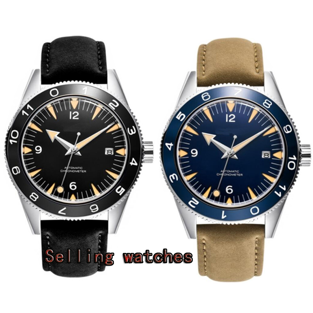 DEBERT 41mm Sterile Dial Date Ceramic Bezel 5ATM MIYOTA 821A Mechanical Automatic mens watch цена