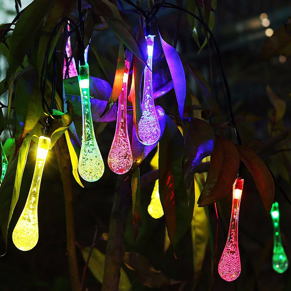 TSLEEN Solar Powered Water Drop 7M String Lights 50 LED Fairy Light Wedding Party Outdoor Indoor Christmas Decorations for Home koh i noor маркер для доски цвет красный