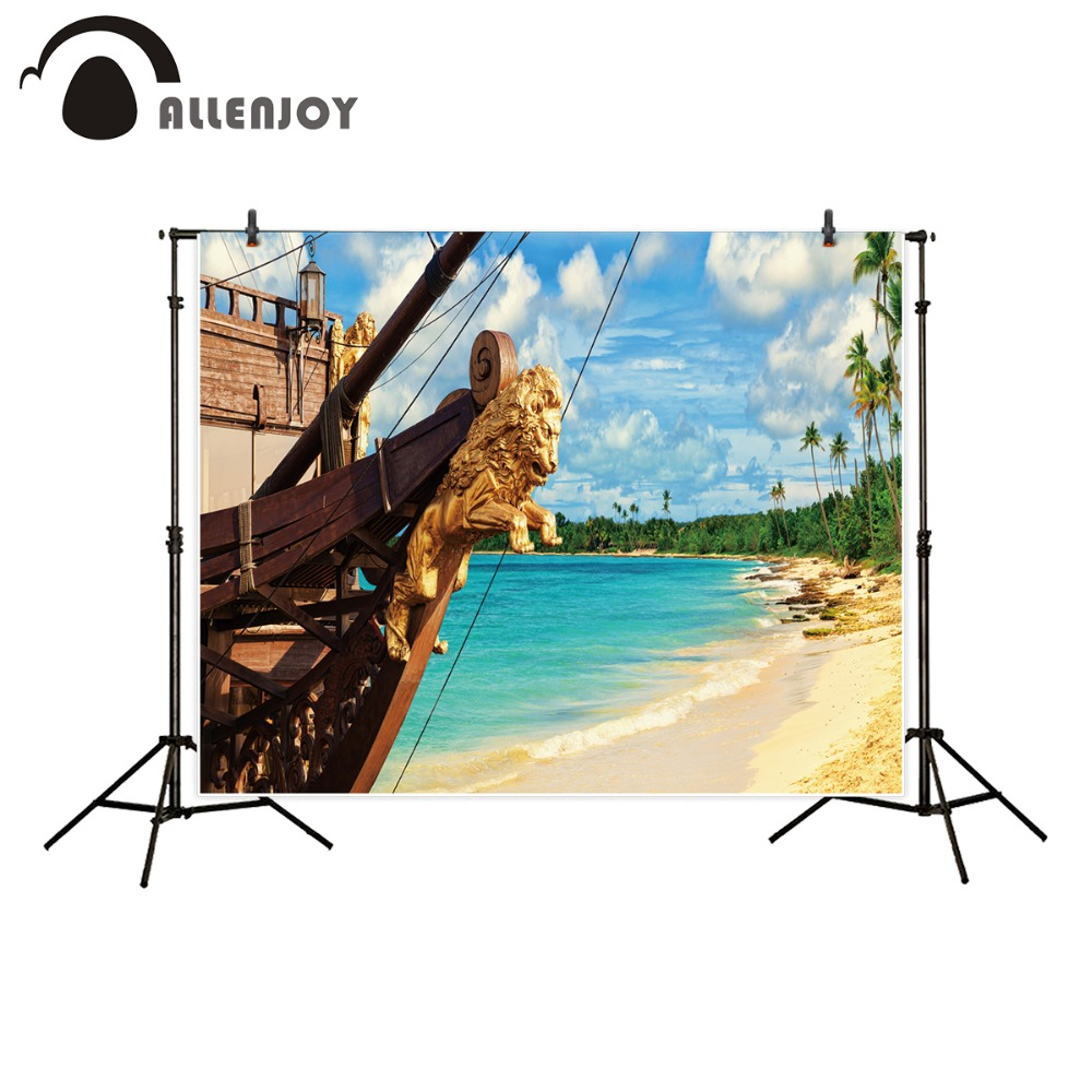 Allenjoy photography backdrop photo studio Sea beach nature pirate Columbus Day discovery sky background photobooth photocall allenjoy photography backdrop library books student child newborn photo studio photocall background original design