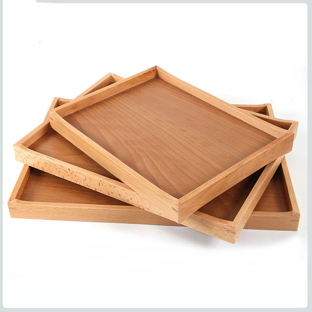 Wooden Serving Trays for Party/Hotel/Home rectangle Plate Dish Tableware fruit Dish Square & Wooden Serving Trays for Party/Hotel/Home rectangle Plate Dish ...