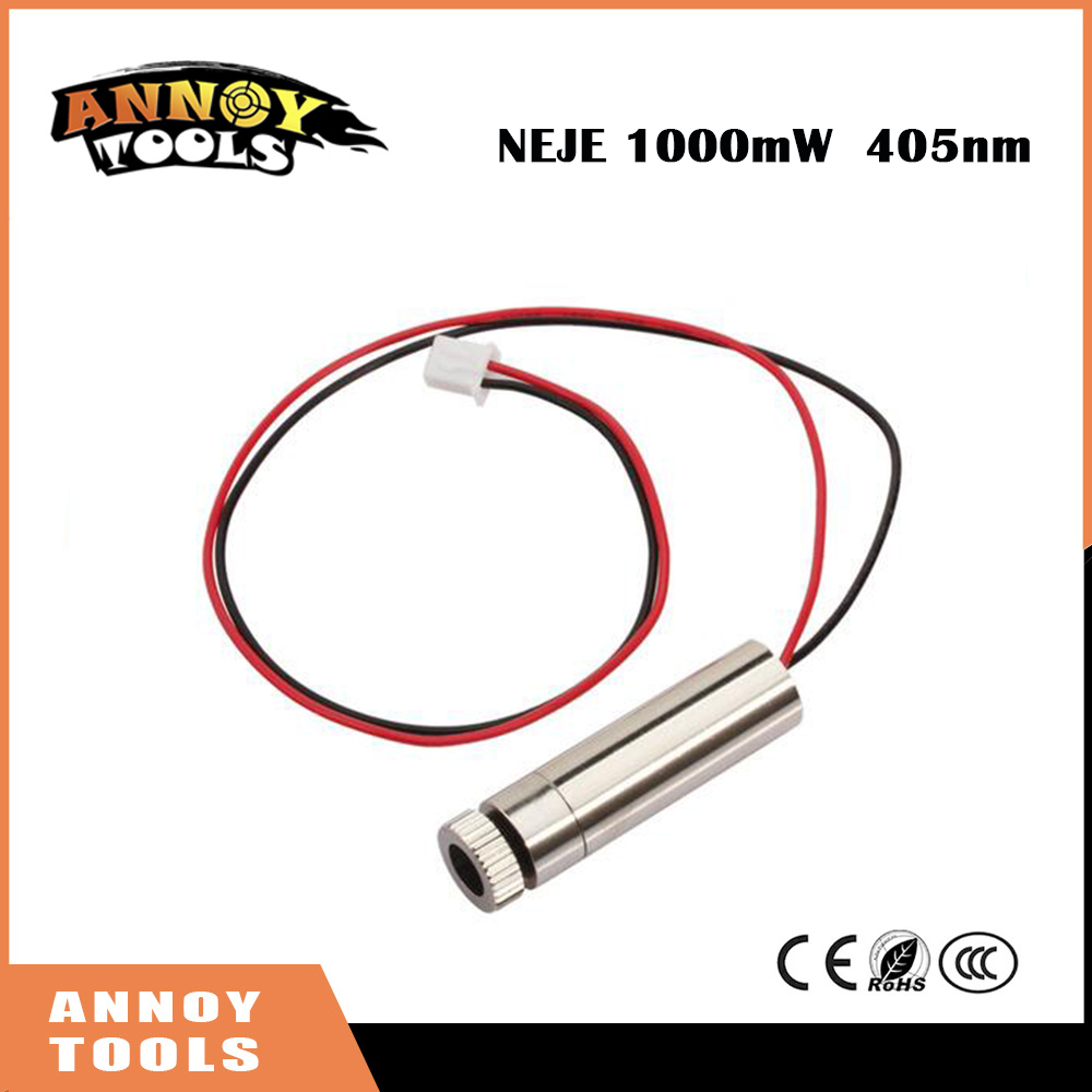 NEJE 1000mW CNC engraving machine accessories 1000mw laser diode laser tube Laser Module for Wood Laser Cutter 12v laser module 450nm 1000mw 1200mw ttl outer driver cnc cutter engraving wood router engraver machine accessories