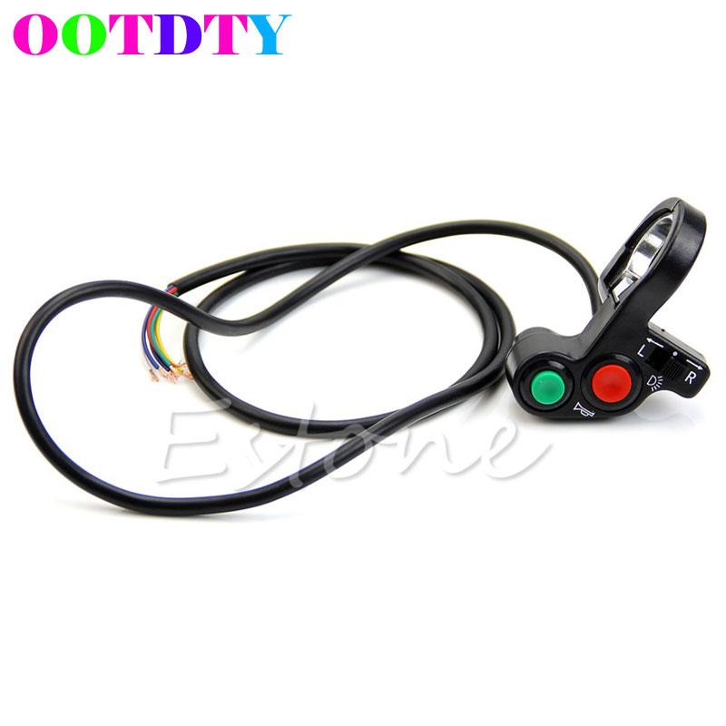 2017 New ATV Motorcycle Bike Scooter Offroad 7/8 Horn Turn Signals Light Switch On/Off APR1_30