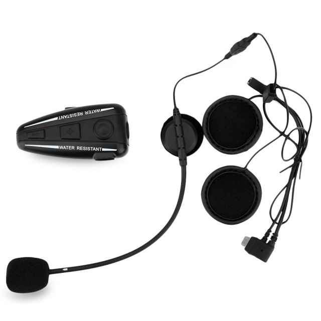 Bluetooth Motorcycle Intercom Motorbike Helmet Interphone / FM Radio / GPS Intercom 4 Buttons Operation Bluetooth 3.0 D2 500m