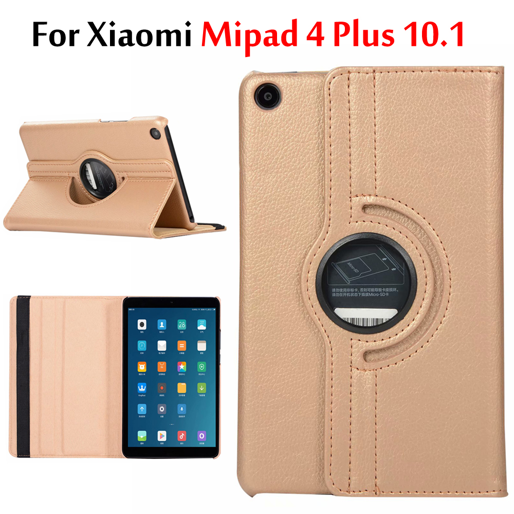 Case For Xiaomi Mi Pad 4 Plus 10.1 Inch 360 Rotating Smart Cover Magnetic Auto Sleep Case For Xiaomi Mipad 4 Plus Funda Coque