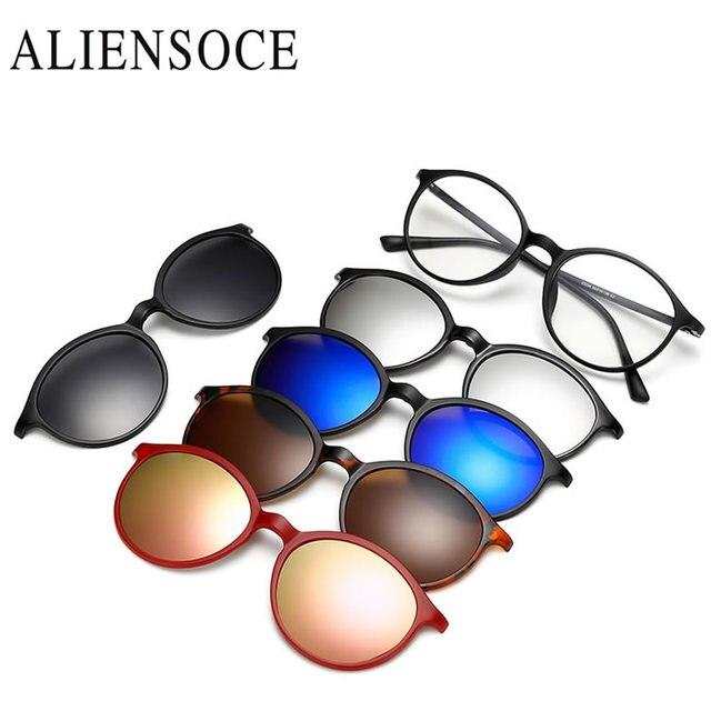 4287bb9d7b 2019 Sunglasses Women Men Polarized Magnetic Clip Glasses Driving Clip On Sunglasses  Magnet Myopia Glasses Frame. Mouse over ...