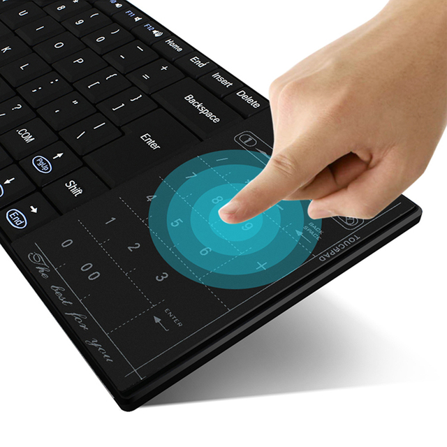 Innovative Universal Rechargeable Wireless Bluetooth Keyboard