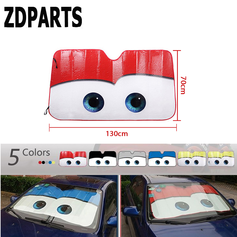 ZDPARTS 6color Car Styling Sunshade Windscreen Cover Sticker For Audi A3 A4 B7 B8 B6 A6 C6 C5 Q5 Nissan Qashqai Juke X-trail T32