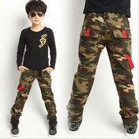 الكبار السراويل الأطفال في التمويه السراويل الاطفال تصميم الجيش التمويه السراويل طفل الفتيان السراويل عالية الجودة 4-13Y