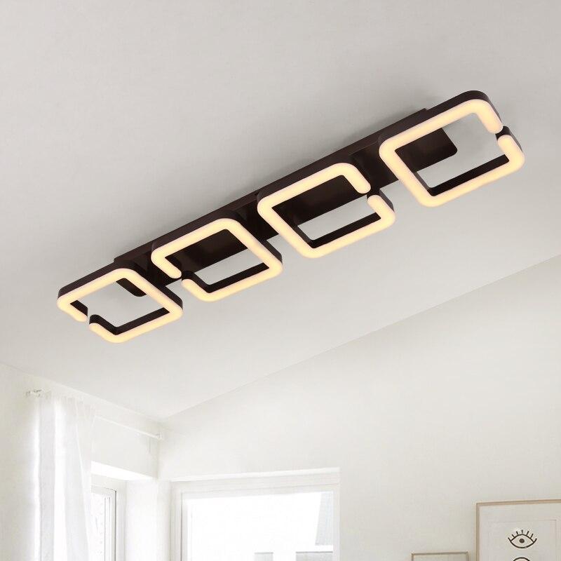 Brown Modern Led Ceiling Chandelier Lamp Lampara de techo Chandelier Lighting For Living Room Bedroom lustre