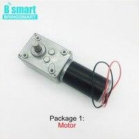 Bringsmart Small Worm Gear Motor 12V 24V 12 470rpm/min DC Micro Motor 12v High Torque Reversed Self Lock For Home Equipment