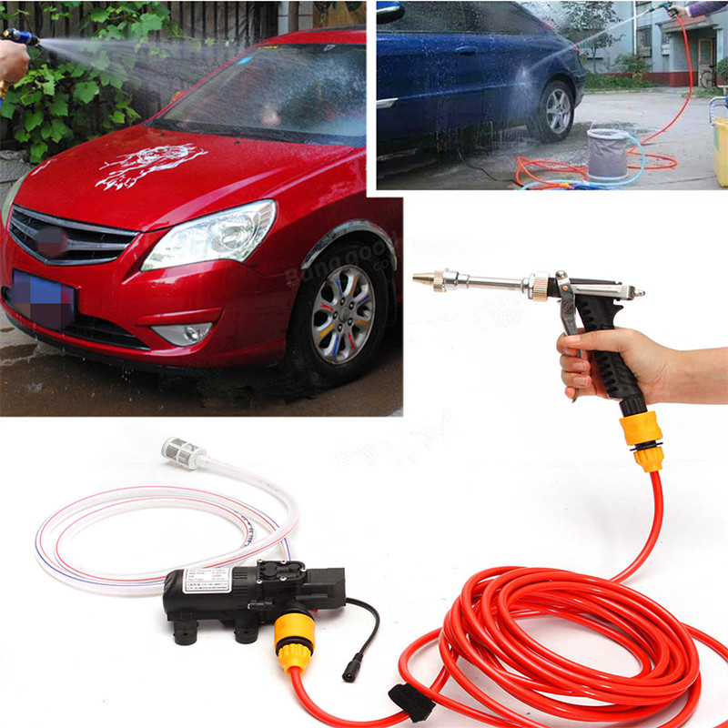 12V 65W High Pressure Marine Deck Car Washer Wash Water Pump Cleaner Sprayer Kit 12v 65w high pressure marine deck car washer wash water pump cleaner sprayer kit