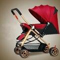 Alta Qualidade Carrinho De Bebê Pode Sentar Mentindo Peso Leve À Prova de Choque de Carro Do Bebê Portátil Dobrável Carrinhos Carrinhos para recém-nascidos C01