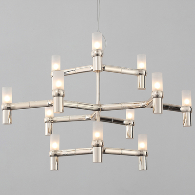 Nemo crown minor chandelier 3 layers 12 heads Postmodern Art Lighting Lobby Villa Stairs Droplight Candle Crown Chandeliers nemo crown nordic postmodern lighting black white chrome gold 30 heads 5 layers aluminum candle pendant light