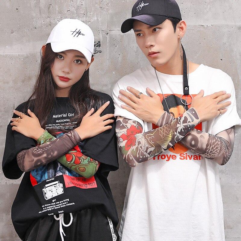 2019 Neue Mode Kreative Lot Kühler Sommer Gefälschte Tattoo Handschuhe Arm Hülse Männer Frauen Uv Sonnenschutz Kühlen Radfahren Sleeves