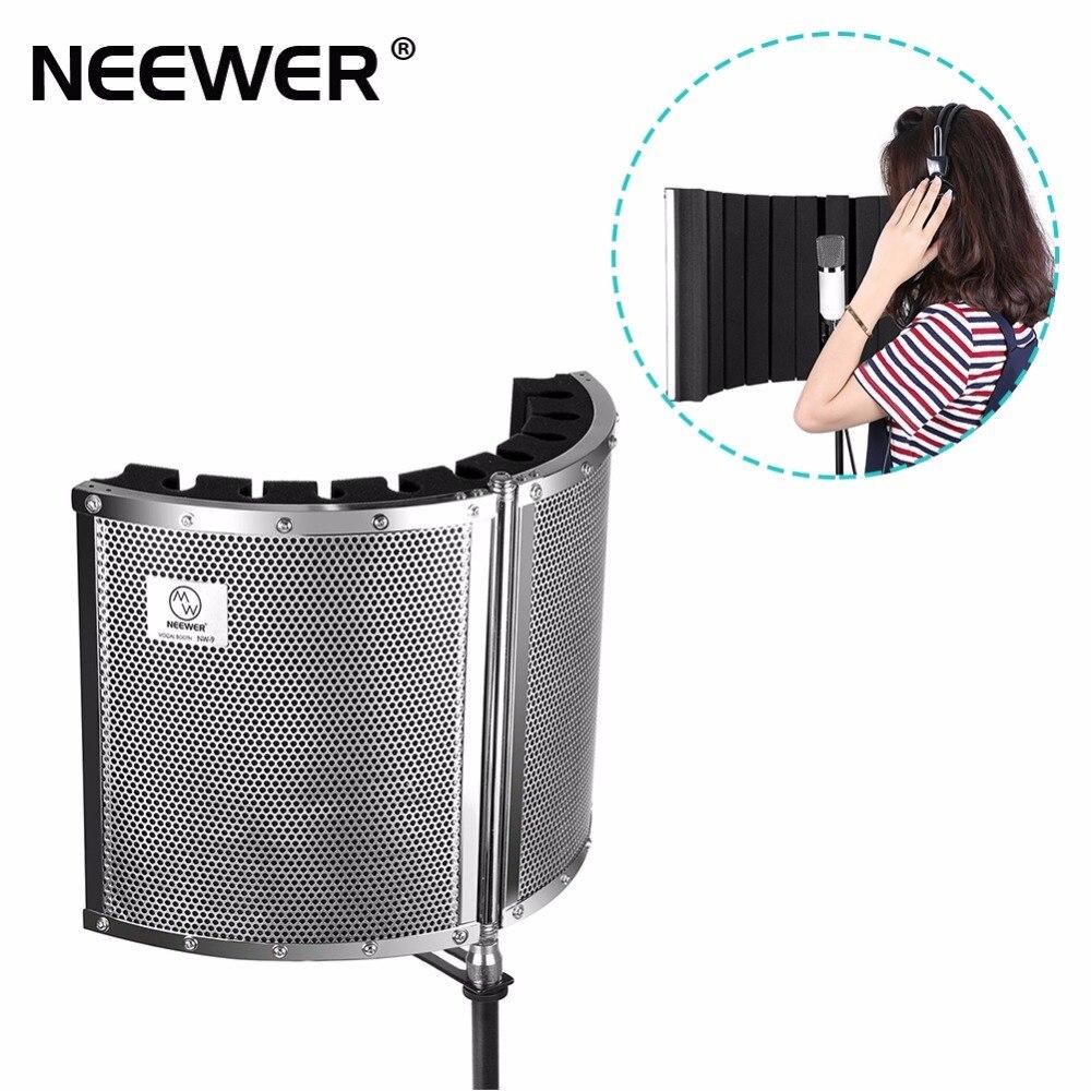 Neewer Microphone pliable Isolation acoustique bouclier avec alliage métallique léger, mousses acoustiques, supports de montage et vis