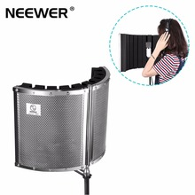 Neewer Plegable Micrófono Escudo de Aislamiento Acústico con Aleación De Metal Ligero, Espumas acústicas, Soportes de montaje y Tornillos