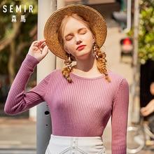SEMIR Autumn Winter Sweater Women 2019 Long Sleeve Pullover Women Basic Sweaters Women 2018 Closed-fit Style Knit Tops Femme цена и фото