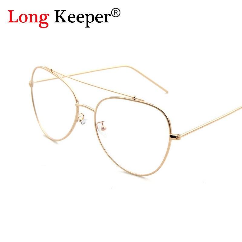 long keeper 2017 fashion design oval glasses frame women most popular double beam frame men eyeglasses optical glasses psty2145e in eyewear frames from - Most Popular Eyeglass Frames