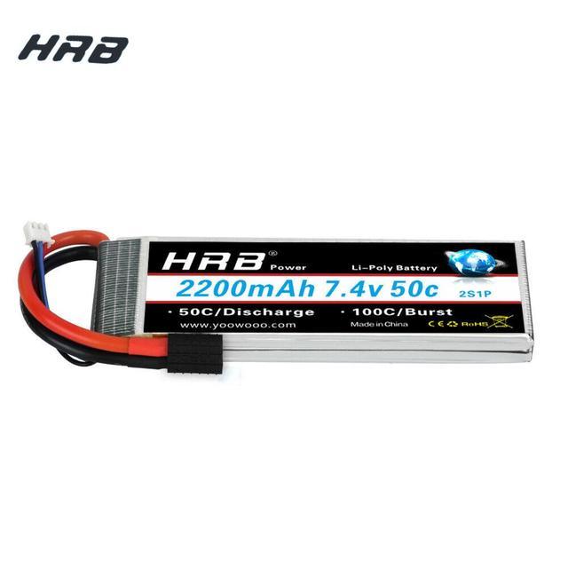 HRB Lipo 2S Pin 7.4V 2200MAh 50C Nổ 100C RC Pin Máy Bay Không Người Lái AKKU TRX XT60 T DEAN cho Traxxas 1:16 Chém E Revo Hội Nghị Thượng Đỉnh Biểu Tình