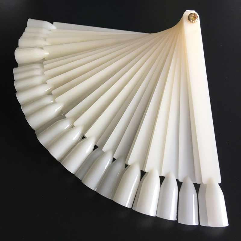 250Pcs False Acrylic Nail Art Tips Sticks Polish Display Fan ...